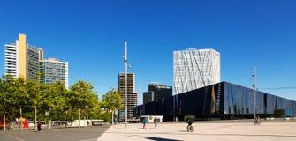 Neuer moder Bezirk und Museu Blau in Barcelona, Spanien Stockbild