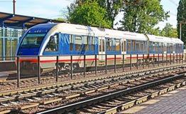 Neuer moderner Zug, Vinnytsia, Ukraine Stockfotografie