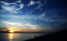Neuer Morgen auf Strand Stockbilder