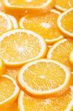 Neuer natürlicher Hintergrund mit orange Scheibe Lizenzfreie Stockfotografie