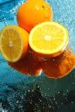 Neuer Orangenaufbau Lizenzfreies Stockbild