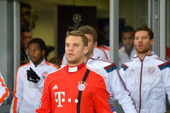 Neuer and players Stock Photography