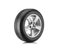 Neuer Reifen lokalisiert auf weißem Hintergrund stockbild