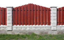 Neuer roter Zaun Stockbilder
