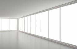 Neuer sauberer Innenraum, Ecke und Fenster vektor abbildung
