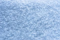 Neuer Schnee-Beschaffenheits-Hintergrund, natürliche Schneeflocken kopieren mit Kopien-Raum Blaue Tone Coloring Wintersaison, Wet lizenzfreies stockbild