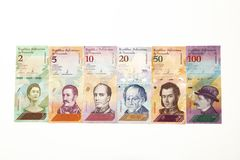 Neuer Währungsvenezolaner berechnet Ikone lizenzfreies stockbild