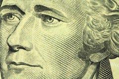 Neuer zehn Dollarschein Stockbild