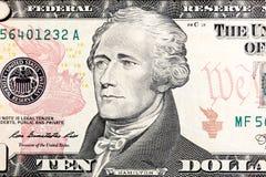 Neuer zehn Dollarschein gab für Zirkulation im März 2006 in MA frei Stockbild