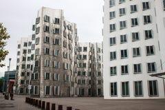Neuer Zollhof的看法在媒介港口 库存图片