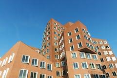 Neuer Zollhof buildings at MedienHafen, Dusseldorf Royalty Free Stock Photos