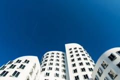 Neuer Zollhof buildings at MedienHafen, Dusseldorf Royalty Free Stock Photo