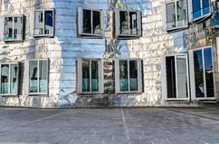 Neuer Zollhof, Duesseldorf, Germania Fotografie Stock