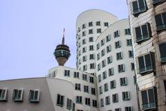 Neuer Zollhof im Medien-Hafen in Dusseldorf Stockfotografie