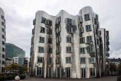 Neuer Zollhof im Medien-Hafen in Dusseldorf Lizenzfreie Stockfotografie