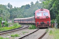 Neuer Zug s11 in Sri Lanka Lizenzfreies Stockbild