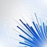 Neuer zukünftiger Konzepthintergrund der abstrakten blauen Technologie Lizenzfreie Stockbilder