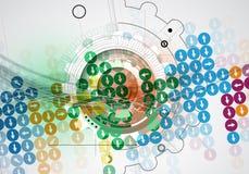 Neuer zukünftiger Technologiekonzept-Zusammenfassungshintergrund lizenzfreie abbildung