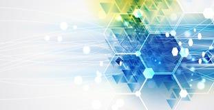 Neuer zukünftiger Technologiekonzept-Zusammenfassungshintergrund Lizenzfreies Stockfoto