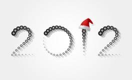 Neues 2012 mit einem Hut Lizenzfreie Stockfotos