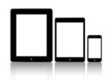 Neues Apple iPad und iPhone 5 stock abbildung