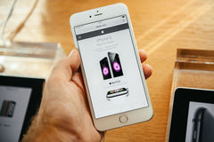 Neues Apple-iPhone 6 und iPhone 6 Plus Lizenzfreie Stockbilder
