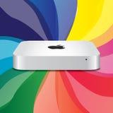Neues Apple Mac MiniUnibody lizenzfreie abbildung