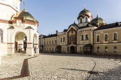 Neues Athos-Kloster von St Simon das Canaanite Kloster Stockbild