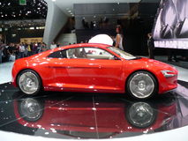 Neues audi e-tron elektrisches Auto! Stockfoto