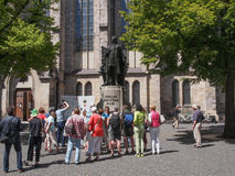 Neues Bach Denkmal Royalty-vrije Stock Afbeelding