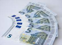 Neues Banknotengeld-Bankgeld des Euros fünf Lizenzfreies Stockfoto
