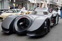 Neues Batmobile Gumball 2010 Stockfoto