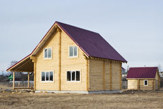 Neues Blockhaus und das vaporarium Lizenzfreie Stockfotografie
