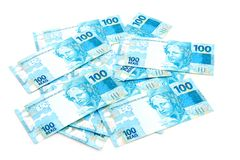 Neues brasilianisches Geld lizenzfreie stockbilder