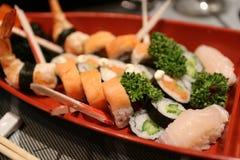 Neues chinesisches Lebensmittel der Sushi Lizenzfreie Stockfotos