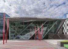Neues Energie-Theater Bord Gais und rote Kunst, Dublin Ireland Lizenzfreie Stockfotos