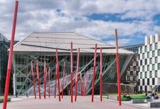 Neues Energie-Theater Bord Gais und rote Kunst, Dublin Ireland Lizenzfreies Stockfoto