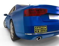 Neues Fahrerautoaufkleberkonzept stock abbildung
