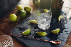 Neues gemachtes Cocktailgetränk Stockbild