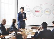 Neues Geschäftsstrategie-Ziel-Konzept Stockbild
