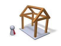 Neues Haus Lizenzfreie Stockfotos