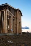 Neues Haus-Aufbau lizenzfreies stockbild
