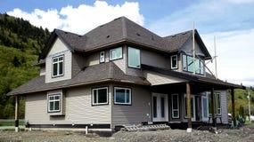 Neues Haus-Aufbau Stockbild