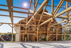Neues Haus-Aufbau Stockfotografie