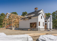 Neues Haus-Aufbau Lizenzfreies Stockfoto