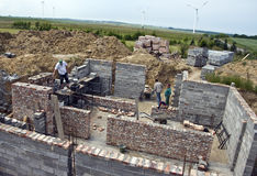 Neues Haus, das aufgebaut wird Lizenzfreie Stockbilder