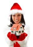 Neues Haus für Weihnachten Lizenzfreies Stockbild