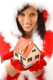 Neues Haus für Weihnachten Stockfotografie
