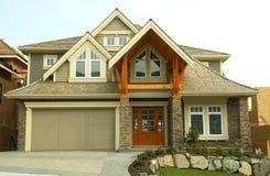 Neues Haus-Haus für Verkauf Lizenzfreies Stockfoto