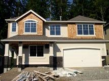 Neues Haus im Aufbau Stockbild
